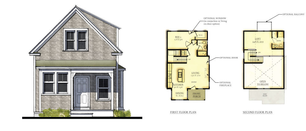 Heritage Sands Howes Cottage Plan 1-BR-Loft-2-BA