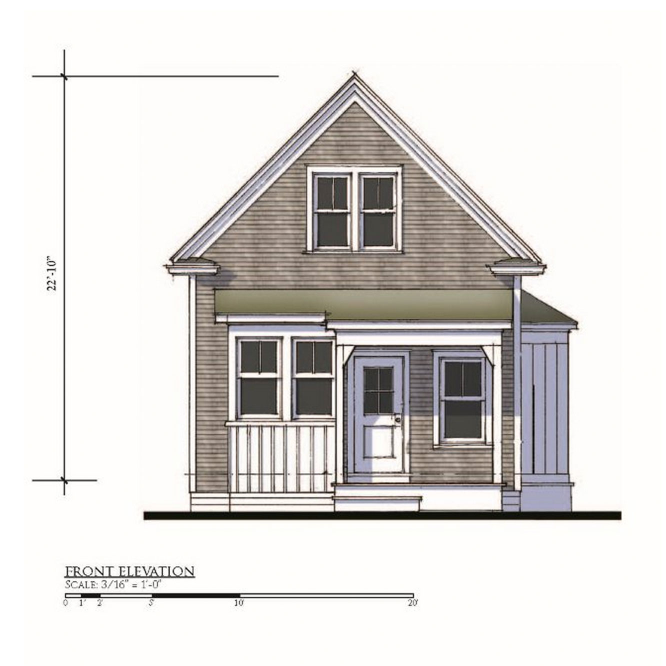Howes 2BR Elevation View